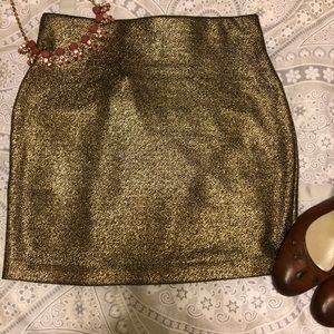 BCBG Gold Skirt NWT